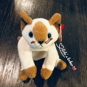 Vintage Ty Beanie Baby Snip The Cat Toy